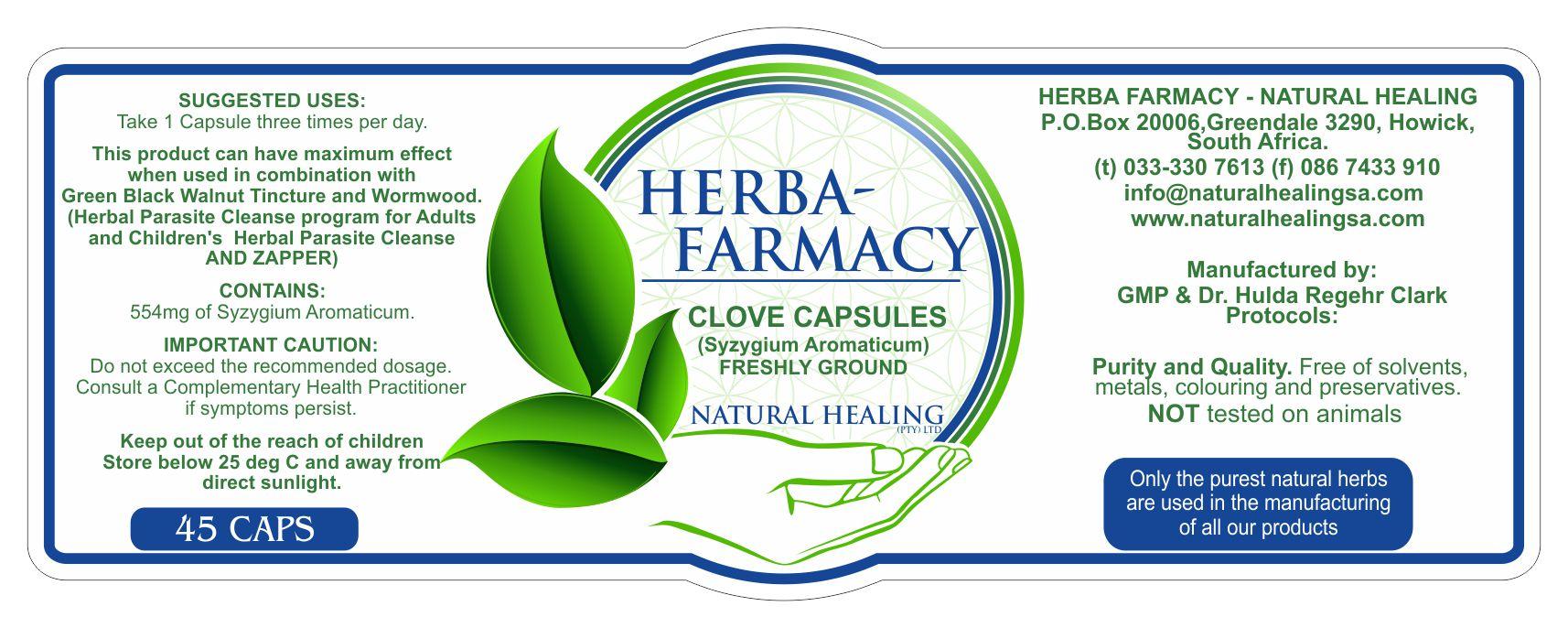 Organic Clove Capsules (45) NI