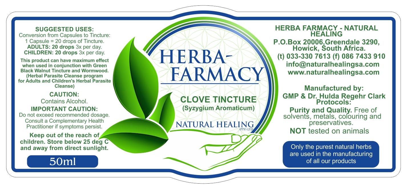 Organic Clove Tincture 50ml NI