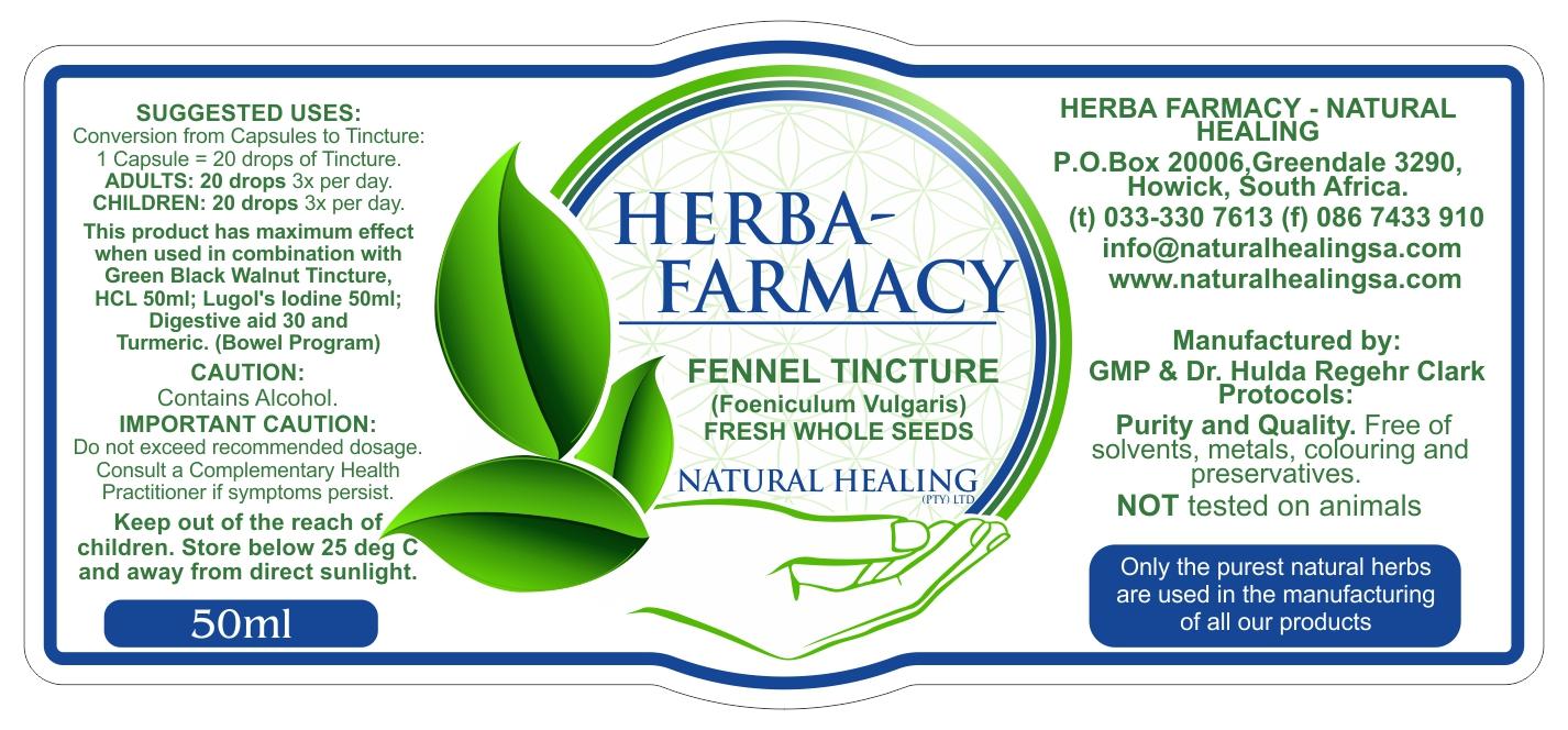 Organic Fennel Tincture 50ml NI