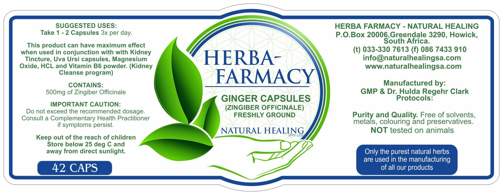 Organic Ginger Capsules (42) NI