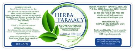 Organic Clove Capsules (100) NI