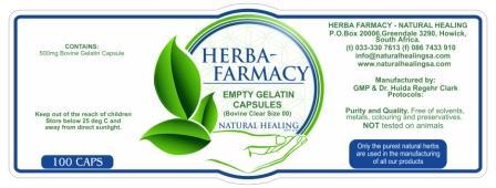 Empty 500 mg Gelatin Capsules(100)