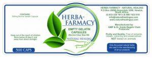Empty 500 mg Gelatin Capsules(500)