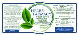 Green Black Walnut Hull Tincture 200ml