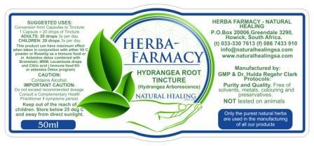 Hydrangea Root Tincture 50 ml- NI