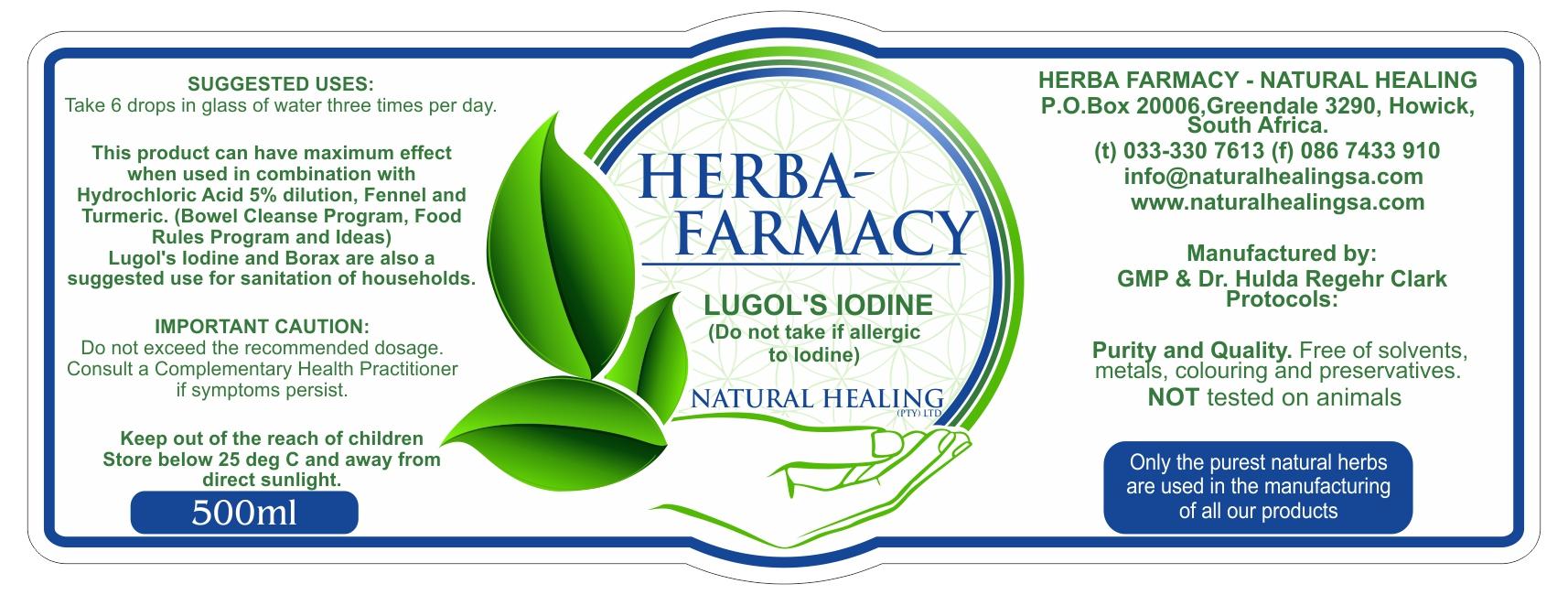 Lugols Iodine Solution (500ml)