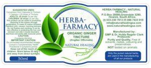 Organic Ginger Tincture 50ml NI