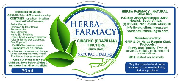 Ginseng (Brazilian) Tincture 50 ml
