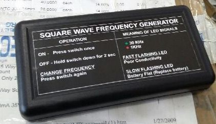 New Zapper- Square Wave Frequency Generator with built in Tooth Zapper